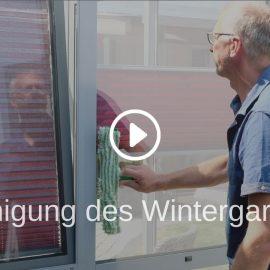 Reinigung des Wintergartens