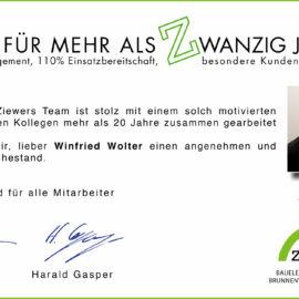 Ruhestand Winfried Wolter